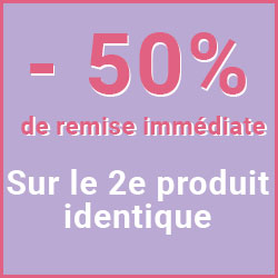 -50% sur le 2e produit identique